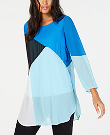 Alfani Colorblocked Super Tunic, Created for Macy's