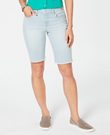 Style & Co Petite Raw-Hem Bermuda Shorts, Created for Macy's