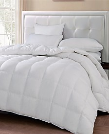Blue Ridge 240 Thread Count Cotton White Goose Feather Down Medium Warmth Comforter Collection