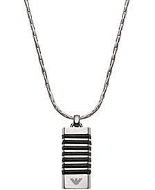 Emporio Armani Men's Stainless Steel Pendant Necklace