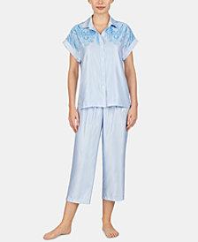 Lauren Ralph Lauren Printed Satin Pajama Set
