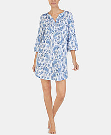 Lauren Ralph Lauren Petite Printed Cotton Nightgown