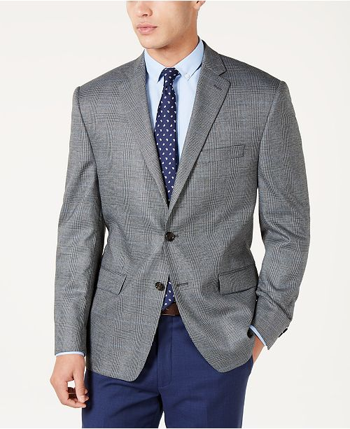 Lauren Ralph Lauren Men's Classic-Fit UltraFlex Stretch Gray Plaid Sport Coat
