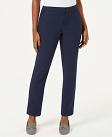 Charter Club Petite Straight-Leg Pants, Created for Macy's