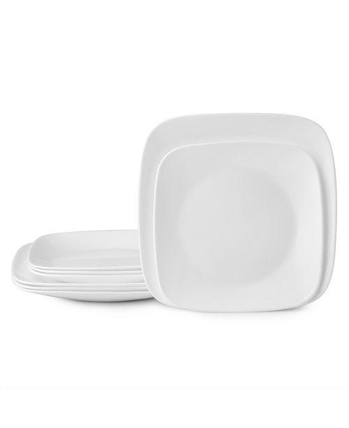 Corelle Vivid White 8pc Lunch/Dinner