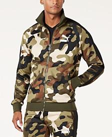 Puma Men's Camo-Print T7 Track Jacket