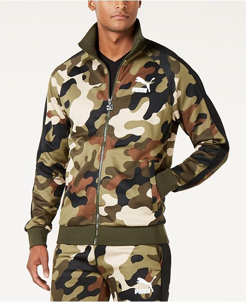 1892539ed251 Puma Men s Camo-Print T7 Track Jacket   Reviews - Coats   Jackets ...