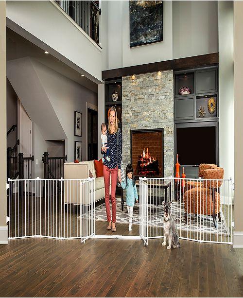 Regalo 8 Panel Double Door Super Wide Gate