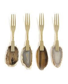 Shiraleah Agate Cocktail Forks