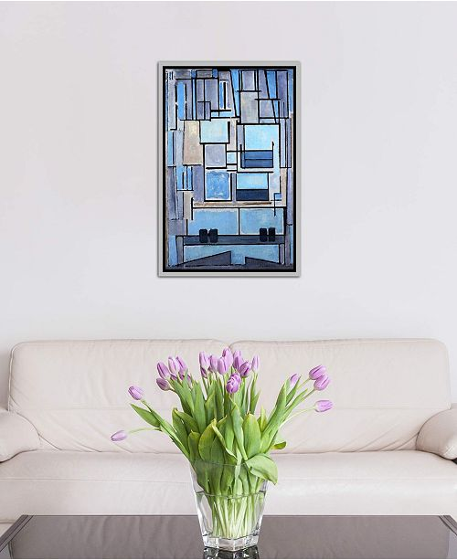 """iCanvas """"Hollywood Panoramic Skyline Cityscape (Black & White - Sign)"""" Gallery-Wrapped Canvas Print"""
