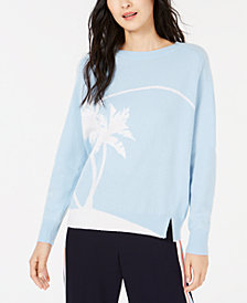Marella Carol Palm-Tree Graphic Sweater