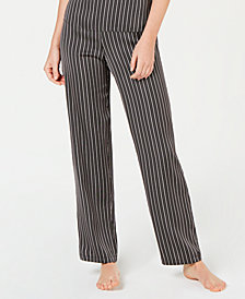 I.N.C. Satin Striped Pajama Pants, Created for Macy's