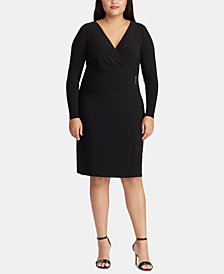 Lauren Ralph Lauren Plus Size Pleated Dress