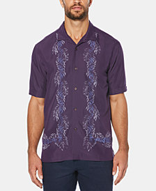 Cubavera Men's Leaf Stripe Short-Sleeve Shirt