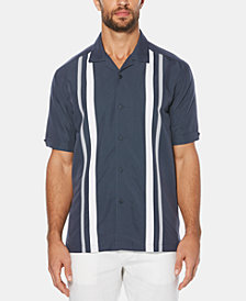 Cubavera Men's Big & Tall Striped Panel Short-Sleeve Shirt
