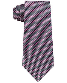 Michael Kors Men's Classic Chevron-Stripe Silk Tie