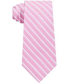 Michael Kors Men's Classic Asymmetrical Stripe Silk Tie