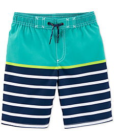 Carter's Little & Big Boys Striped Swim Trunks