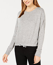Ultra Flirt Juniors' Tie-Front Sweatshirt