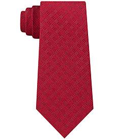 Calvin Klein Men's Molten Gingham Slim Silk Tie