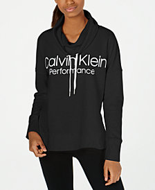 Calvin Klein Performance Cowlneck Drop-Shoulder Top