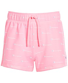 Little Girls Allover Print French Terry Shorts