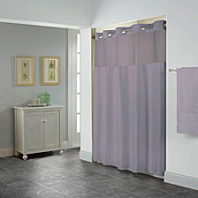 Hookless Shiny Herringbone 3-in-1 Shower Curtain