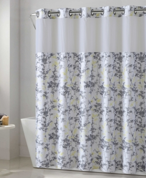 Hookless Floral Leaves 3-in-1 Shower Curtain Bedding