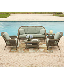 Sandy Cove Outdoor Seating Collection, with Sunbrella® Cushions, Created for Macy's