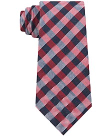 Tommy Hilfiger Men's Classic Ground Plaid Silk Tie