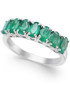 Emerald Ring (1-3/4 ct. t.w.) in Sterling Silver