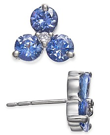 Tanzanite (1-1/2 ct. t.w.) & Diamond Accent Earrings in 14k White Gold