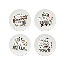 American Atelier Holiday Gold Plates, Set of 4