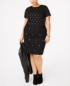 MICHAEL Michael Kors Plus Size Studded Sheath Dress