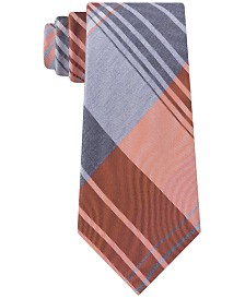 Kenneth Cole Reaction Men's Landmark Slim Plaid Tie