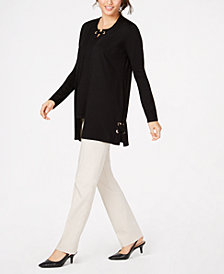 JM Collection Cardigan & Sweater Shell, Created for Macy's