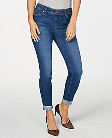 I.N.C. Destructed-Cuff Skinny Ankle Jeans, Created for Macy's
