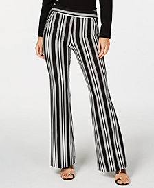I.N.C. Petite Striped Bootcut Pants, Created for Macy's