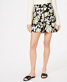 I.N.C. Zipper-Front Printed Skirt, Created for Macy's