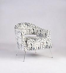 Bella Luna Barrel Back Accent Chair W/ Splashes Of Color