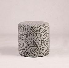 Bella Luna 2 Pc Round Ottoman Set W/ Leaf Pattern