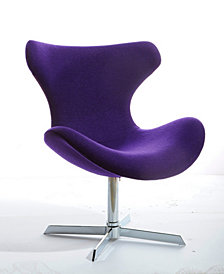 Modrest Aludra Moder Fabric Lounge Chair