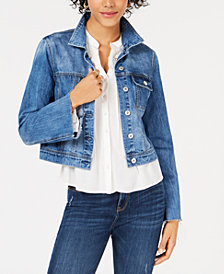American Rag Juniors' Cotton Bell-Sleeve Denim Jacket, Created for Macy's