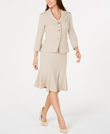 Le Suit Flared-Hem Skirt Suit
