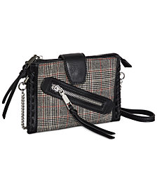 BCBGeneration Houndstooh & Plaid Convertible Wallet