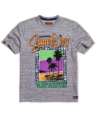 Superdry Men's Heathered Tropical Graphic T-Shirt