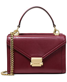 MICHAEL Michael Kors Whitney Polished Leather Top Handle Shoulder Bag