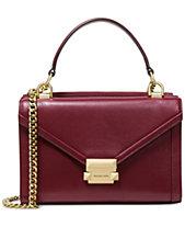 Michael Kors Whitney Polished Leather Top Handle Shoulder Bag