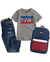 c5e0fcf52838 Levi's® Big Boys Logo-Print Cotton T-Shirt, Regular Tapered Fit Jeans