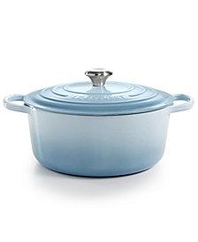 Le Creuset 7.25-Qt. Coastal Blue Cast Iron Round Dutch Oven, Created for Macy's